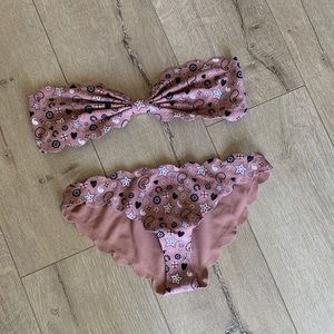 Marysia swim pink bandana print Antibes bikini